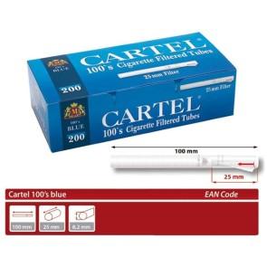 Cartel 100s blue 200 Filterhülsen
